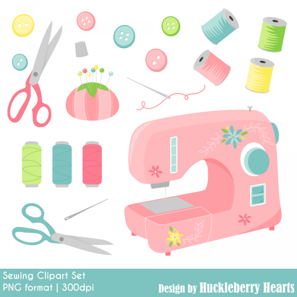 sewing clipart  sewing machine  digital sewing clip art