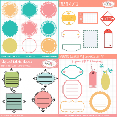Digital tags and label templates