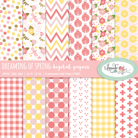 Dreaming of Spring Digital Papers