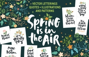 Spring Letterings + Graphics +