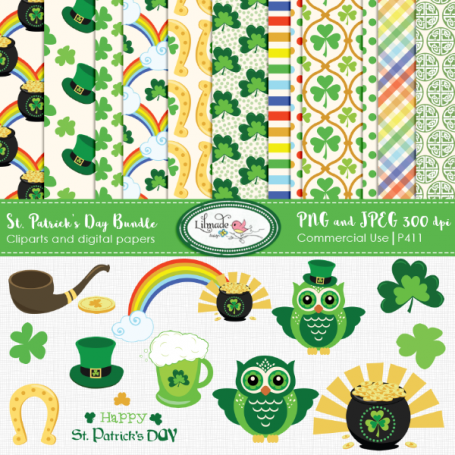 St. Patrick's Digital Paper and