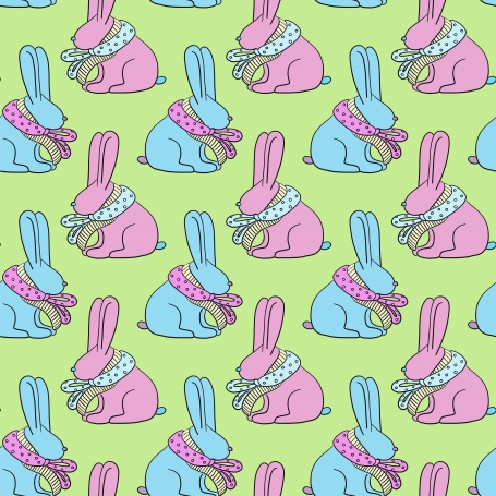 Easter bunny seamless pattern.