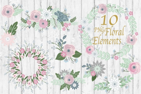 Floral Bouquet Clip Art - Flower