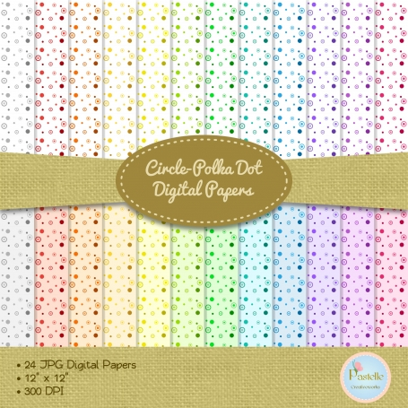 Circles-Polka Dots Digital Papers