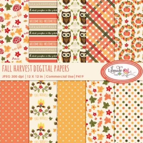 Digital paper, Fall digital paper,