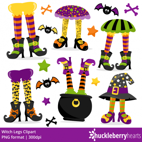 Halloween Clipart, Witch Legs