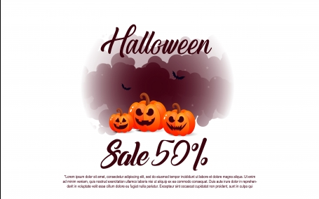 Halloween template banners sale