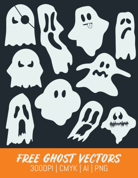 Free Ghost Clipart and Vector for