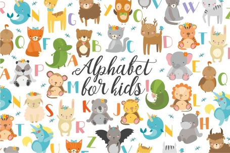 Alphabet animals for kids