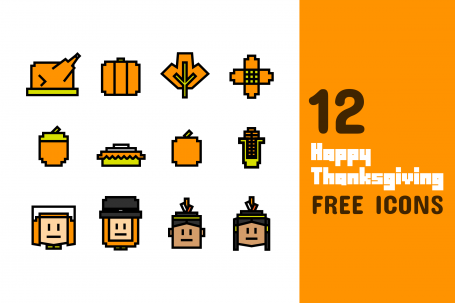 12 Happy Thanksgiving Icons Free