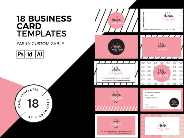 Candy business card templates print business luvly download candy business card templates colourmoves