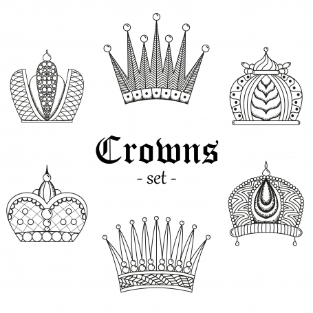 A set of crowns for design.