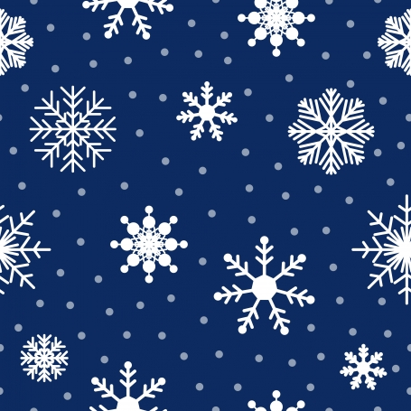 Seamless Pattern with Snowflakes