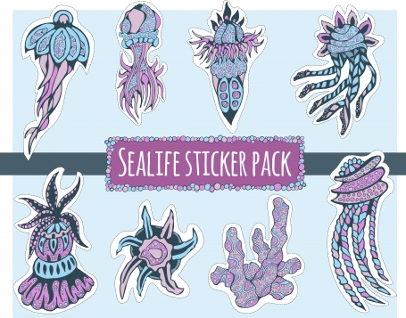 Sealife Sticker Pack