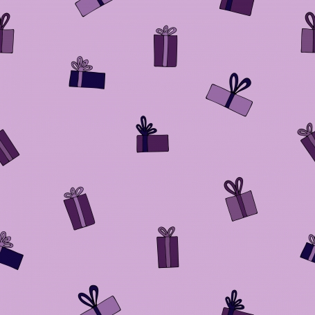 Festive Gifts Pattern on a Lilac
