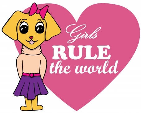 Girls Rule The World Dog Vector