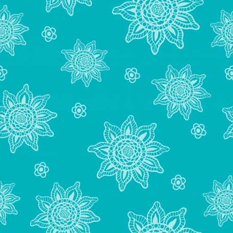 Hand Drawn Abstract Flower Patterns