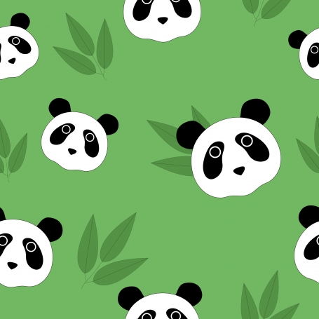 Panda Seamless Pattern and Bamboo