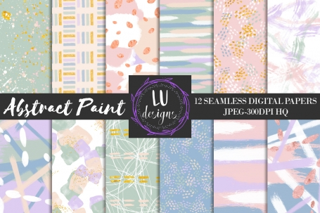 Abstract Paint Digital Paper Pack