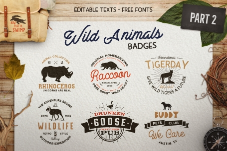 12 Wild Animals Badges [Part 2]