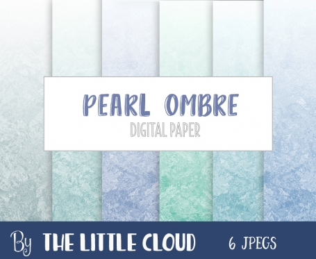 Ombre Blue Pearl Digital Paper