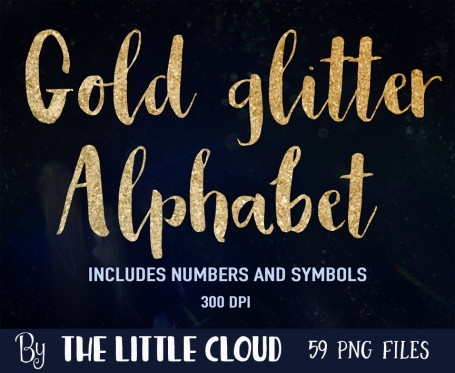 Luxe Gold Alphabet Clipart
