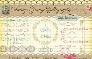 Vintage Calligraphy 1