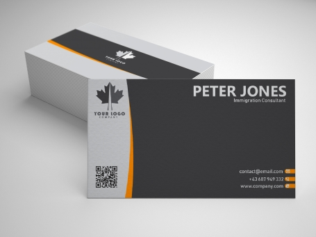 Minimalist Grey Business Card