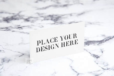 Business visit card mockup