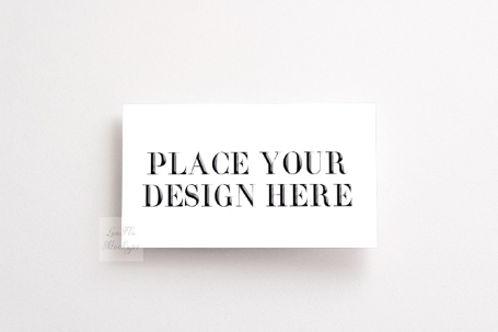 Business Visit Card Flatlay Mockup