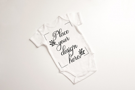 Baby Suit Bodysuit One Piece Mockup
