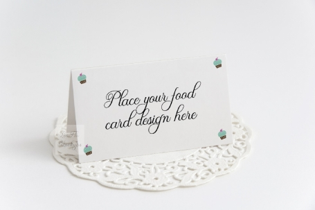 Table Food Place Card Mockup