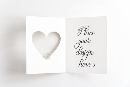 Greeting Card Flatlay Mockup PSD