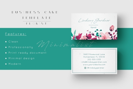 Floral | Business Card Template