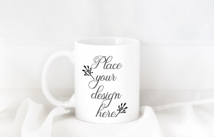 Coffee mug mockup white 11oz cup