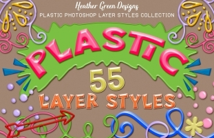 Plastic Photoshop Layer Styles