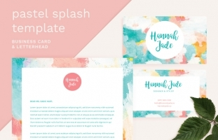 Pastel Splash Business Card +