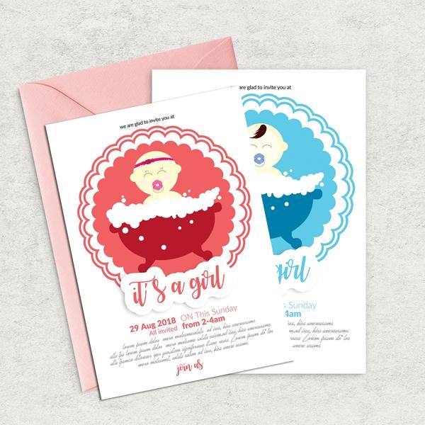Baby shower announcement flyer template print invitations baby download baby shower announcement flyer template maxwellsz