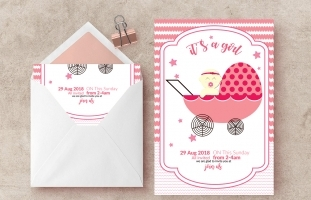 Baptism Baby Shower Flyer Templates