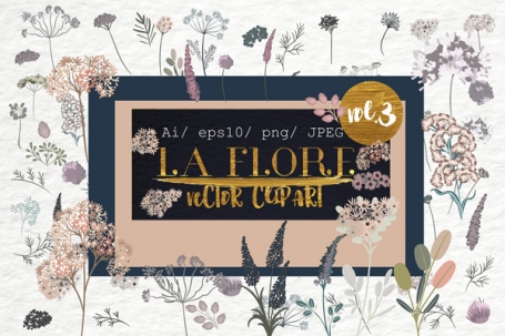 Flora. Vector Floral Clipart vol.3