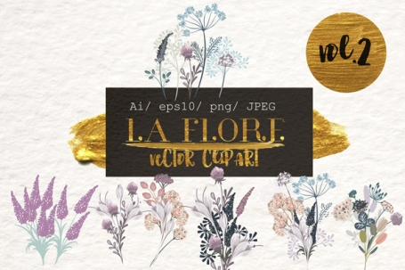 Flora. Vector Floral Clipart Vol.2
