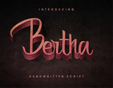 Bertha - script with English and