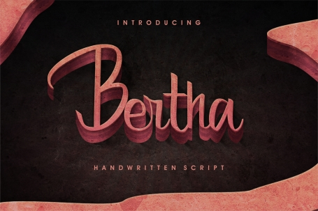 Bertha script with English and