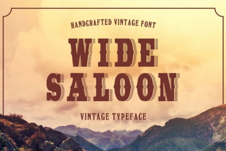 Wide Saloon - Display font