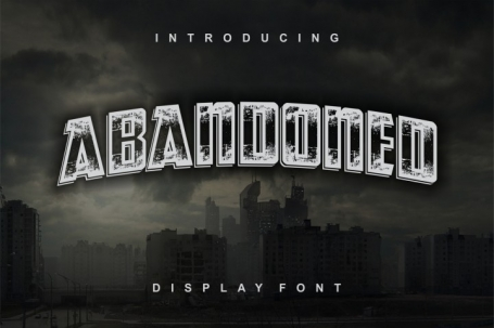 Abandoned typeface display font