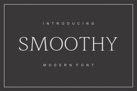 Smoothy - modern font