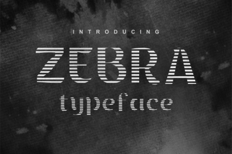 Zebra decorative display font