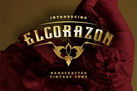 Elcorazon - display font