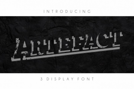 Artefactor - Display Font in 3