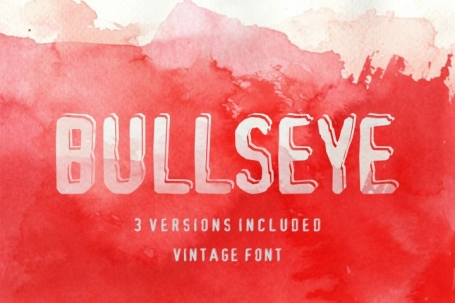Bullseye Shadowed Damaged font in